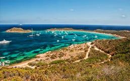 Sardinia sea  landscape capo coda cavallo Royalty Free Stock Photos