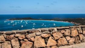 Sardinia sea  landscape capo coda cavallo Stock Photos