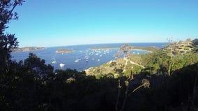Sardinia sea  landscape capo coda cavallo stock video