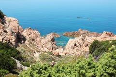 Sardinia. Seeview on the Tyrrhenian sea Royalty Free Stock Photos