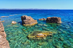 Sardinia - shore in San Pietro Isle Stock Photography