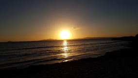 sardinia solnedgång Royaltyfri Foto