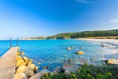 Sardinia strand, Marmorataen, Santa Teresa, Italien Royaltyfria Foton