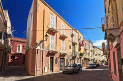 Sardinia - street in Carloforte Royalty Free Stock Photography