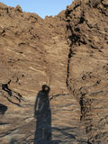 Sardinia. Shadow on cliff Stock Image
