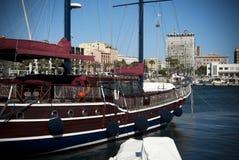 Sardinia.traditional帆船 免版税库存照片