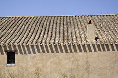 Sardinia. Roof with chimney Stock Photos