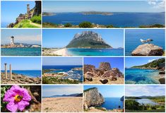 Sardinia travel postcard Stock Photos
