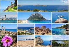 Sardinia travel postcard stock photos