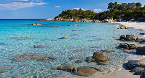 Sardinia. turquoise sea water and beach Stock Photography