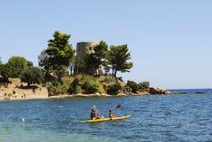 Sardinia. Uma torre litoral imagem de stock royalty free