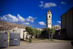 Sardinia.Urban-sikter i Marmilla Royaltyfri Foto