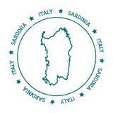 Sardinia vector map. Stock Images