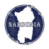 Sardinia vector map. Stock Photography