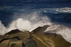 sardinia wave royaltyfria foton