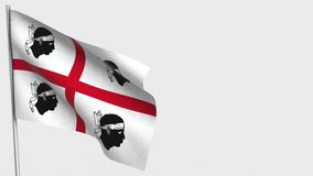 Sardinia waving flag animation on flagpole. Perfect for background with space on the right side royalty free illustration