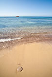 Sardinia - Woda i piasek Obrazy Stock
