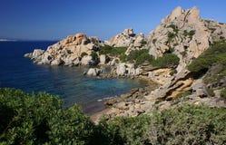 Sardinian береговая линия стоковое фото