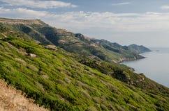 Sardinian западное побережье, Италия Стоковые Изображения