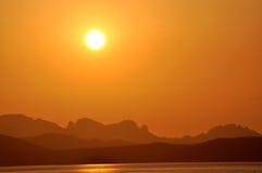 Sardinian заход солнца Стоковые Фотографии RF