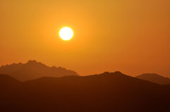 Sardinian заход солнца Стоковые Изображения RF