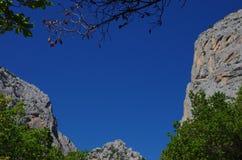 Sardinian каньон Стоковые Изображения