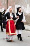 Sardinian парад костюма стоковые фотографии rf