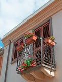 Sardinian balcony Stock Photos