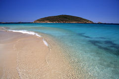 Sardinian beach in summer. Beach of Tuerredda - Sardinia - Italy Royalty Free Stock Photography