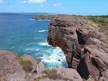 Sardinian cliffs. View to the Tyrrhenian sea from sardinian cliffs Sant'Antioco Stock Image