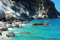 Sardinian coast. Called cala goloritz Stock Photos