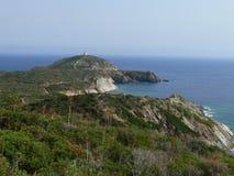 Sardinian Coast. Cliffs in Tyrrhenian sea Sardinia Royalty Free Stock Images