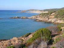 Sardinian Coast near Chia. Beaches in locality Domus de Maria, Sardinia Stock Photos