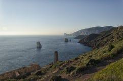 The Sardinian coast near Nebida Royalty Free Stock Images