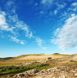 Sardinian countryside. Landscape of countryside in sardinia and blue sky Royalty Free Stock Photography