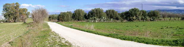 Sardinian countryside. Landscape of countryside in sardinia Royalty Free Stock Images