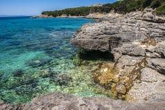 Sardinian Cove at Capo Testa Stock Images