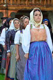 Sardinian Dancers Royalty Free Stock Images