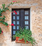 Sardinian fönster Royaltyfria Bilder