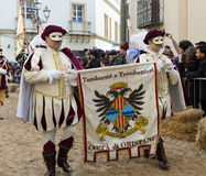 Sardinian festival av Sartiglia Royaltyfri Bild