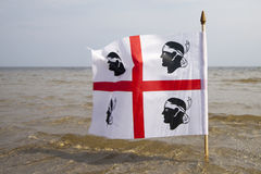 Sardinian flag. Royalty Free Stock Photography