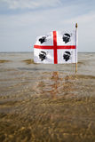 Sardinian flag. Royalty Free Stock Photos