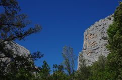 Sardinian gorropu каньона Стоковые Фото