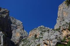 Sardinian gorropu каньона Стоковая Фотография
