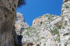 Sardinian gorropu каньона Стоковые Фотографии RF
