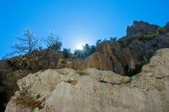 Sardinian gorropu каньона Стоковое Изображение RF