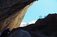 Sardinian gorropu каньона Стоковые Изображения RF
