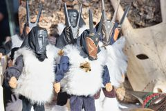 Free Sardinian Masks Wooden Dolls, Su Boe, Mamuthones And Others Royalty Free Stock Photo - 162757205