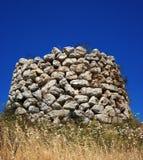 Sardinian nuraghe. Ancient sardinian tower called nuraghe Stock Photography
