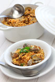 Sardinian pasta fregula with clams, italian cuisine Royalty Free Stock Images